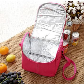 Lunch Bag Cooler Tote Picnic Canvas Portable Insulated Thermal Food Storage Travel Organizer For Women Kids Men Beer Box Bag