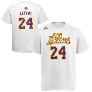 adidas Kobe Bryant Los Angeles Lakers Noches Enebea Name & Number T-Shirt - White