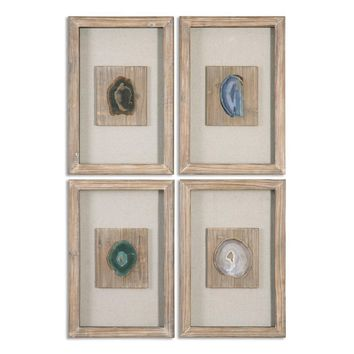 Agate Stone, Set 4 By Uttermost