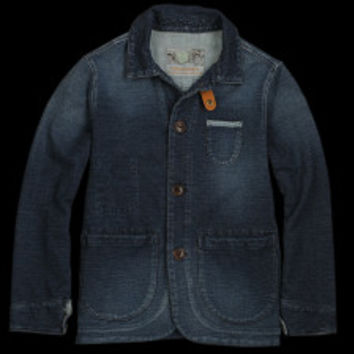 UNIONMADE - Rulezpeeps - Three Button Jersey Work Jacket in Indigo