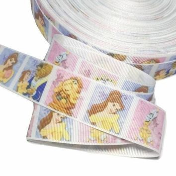 "Beauty & The Beast printed 1"" grosgrain ribbon"