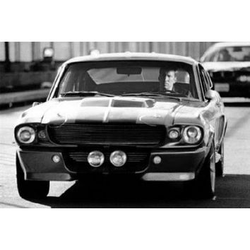 "Eleanor Mustang Poster Black and White Mini Poster 11""x17"""
