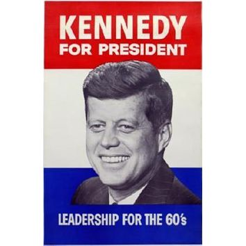 Jfk John F. Kennedy poster Metal Sign Wall Art 8in x 12in