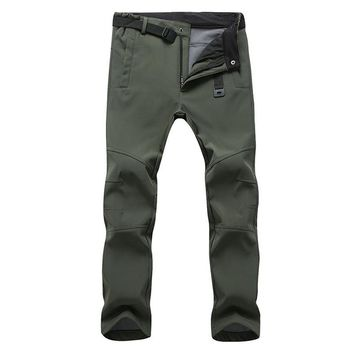 Mens pants Workwear Waterproof tactical shark skin style insulated belted outwea