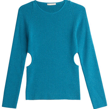 Emilia Wickstead - Wool Pullover with Cut-Out Sides