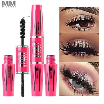 MILEMEI 4D Silk Fiber Eyelash Mascara Makeup Lengthening  Eye Lash Mascara Magic fiber Black Waterproof Rimel Eyelash Extension