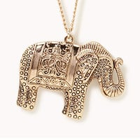 Etched Elephant Pendant