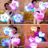 Cute colorful luminous hold pillow