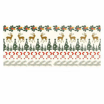 "Famenxt ""Christmas Vibes"" Holiday Pattern Luxe Rectangle Panel"