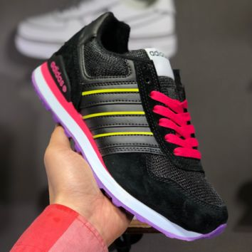 hcxx A1454 Adidas 2019 NEO 8K Retro Low Casual Running Shoes Black Red