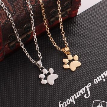 M MISM New Dog Claw Bff Necklace Cute Gold Chain Couple Necklace Pet Paw Pendant Jewelry Gifts For Women Best Friend Naszyjnik