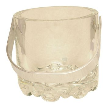 Pre-owned 1970's Minimalist Orrefors Crystal Ice Bucket