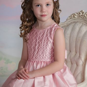 Lulu- Pink Flower Girl Dress
