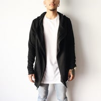 Noah's Zipper Cardigan (Black)