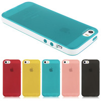 Snap On Rubber Matte TPU Gel Case Cover For Apple iPhone 5 / 5S