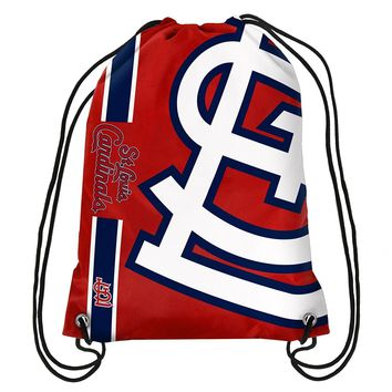 St Louis Cardinals MLB  Drawstring Back Pack - SackPack ~ NEW!