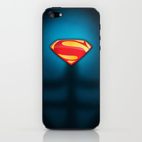 Man of Steel Suit iPhone & iPod Skin by RobozCapoz