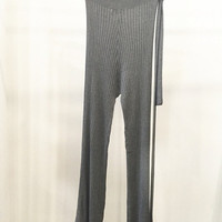 Gray Knitted Soft Pants