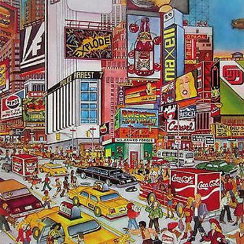 Times Square, Ltd Ed Silk-screen, Susannah MacDonald