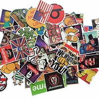 Ashir Aley Pack of 50pcs All Different Stickers Skateboard Vintage Vinyl Sticker Graffiti Laptop Luggage Car Bike Decals Mix Lot Cool