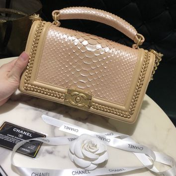 Double C Rose Gold Scale Boy Bag