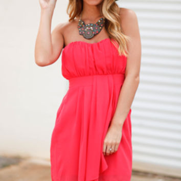 Outshine The Sun Strapless Pink Sundress