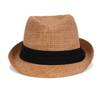 Hipster Fedora Hat - Brown