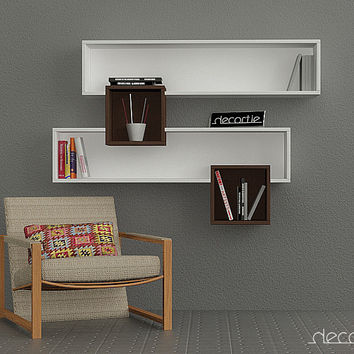 DECORTIE SALAD Bookcase Wall Shelves #