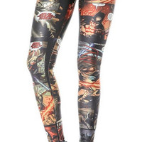 Superhero cartoon leggings size medium