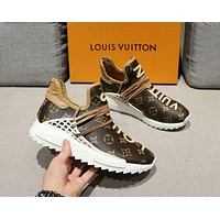 Louis Vuitton LV Trending Women Stylish Comfortable Sport Shoes Sneakers Coffee I/A