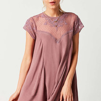 Ecote Lily Peach Swing Dress - Urban Outfitters