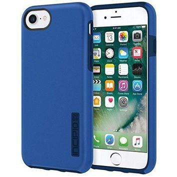 Incipio DualPro iPhone 8 & iPhone 7/6/6s Case with Shock-Absorbing Inner Core & Protective Outer Shell for iPhone 8 & iPhone 7/6/6s - Iridescent Nautical Blue/Blue
