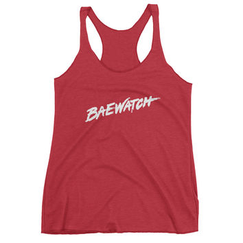 Baewatch Red Racerback Tank Top