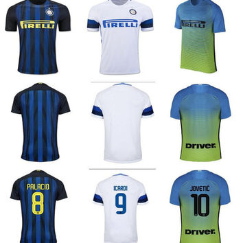 a6e1b15afc18 Inter Home Away Soccer Jersey JOVETIC ICARDI PALACIO KONDOGBIA MEDEL  CANDREVA EDER Customize Milan Football Shirt