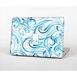 The Wild Blue Swirly Vector Water Pattern Skin Set for the Apple MacBook Air 13""