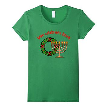 Hanukkah AND Christmas T-shirt by Scarebaby
