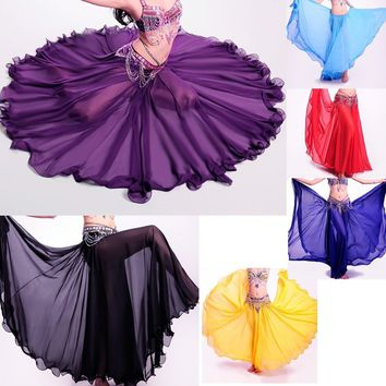 Best dance Professional Belly Dance Costume Long full skirt Hot 360 Full Circle Belly Dance Costume Skirts 360 Full Circle Long