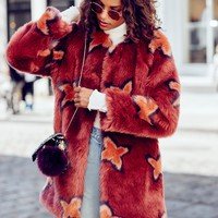 Free People Wrap Me Up Faux Fur Jacket