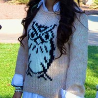 PINK OWL SWEATER from COMOSTREET