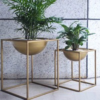 Bonsai Metal Square Flower Plant Pot Home Decoration Accessories