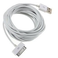 5m 16ft USB Sync and Charging Cable for Apple Iphone 4 4s 3 3gs Ipod Ipad (5M white)