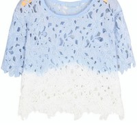 Dip-dyeing Crocheted Lace Top - OASAP.com