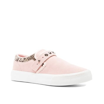 Supra x Elyse Walker Cuba Slip On in Pink & Brown & White