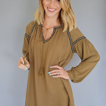Through the Leaves Tassel Tunic
