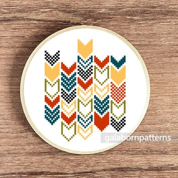 Cross stitch pattern - Chevron 2 - Digital