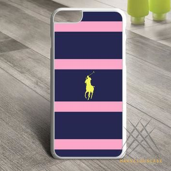 Polo Ralph Lauren Navy Blue Stripe Custom case for iPhone, iPod and iPad