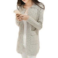 Winter Women Casual Long Sleeve Knitted Cardigans Autumn Crochet Ladies Sweaters Fashion Tricotado Cardigan