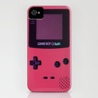iPhone case Gameboy Color Pink Art Print by Nicklas Gustafsson | Society6