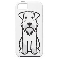 Miniature Schnauzer Dog Cartoon iPhone 5 Cover