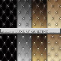 Luxury Quilted Digital Paper Pack for scrapbooking, invites, cards,web design,jewelry making, Digital Collage, Instant Download